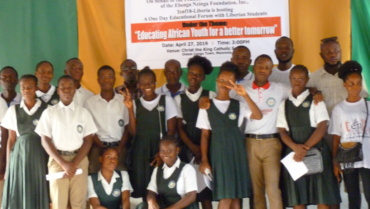Tenf18-Liberia ends a one-day educational forum with high school students in Monrovia